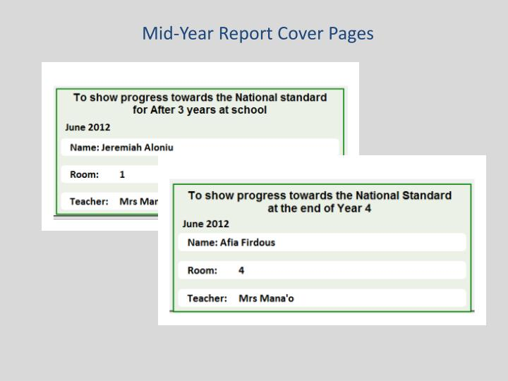 Mid-Year Report Cover Pages