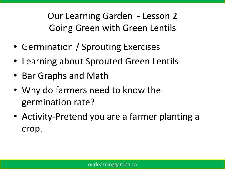 Our Learning Garden  - Lesson 2