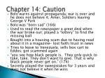 chapter 14 caution