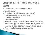 chapter 2 the thing without a name