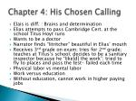 chapter 4 his chosen calling