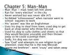 chapter 5 man man
