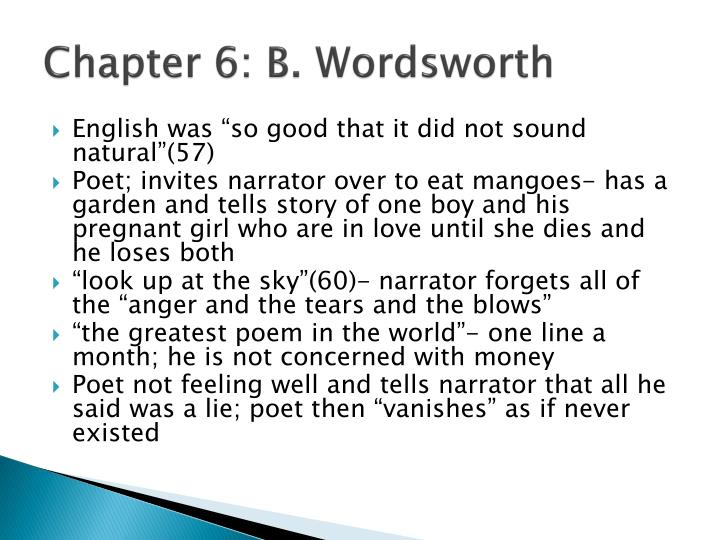 Chapter 6: B. Wordsworth