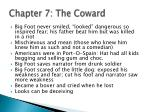 chapter 7 the coward