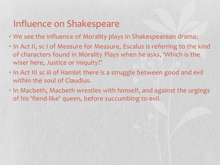 Influence on Shakespeare