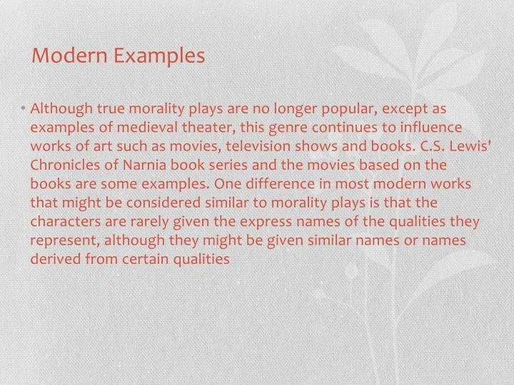 Modern Examples