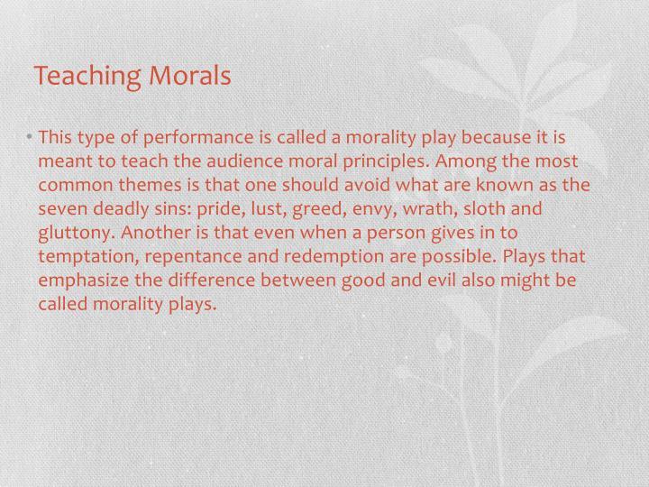 Teaching Morals