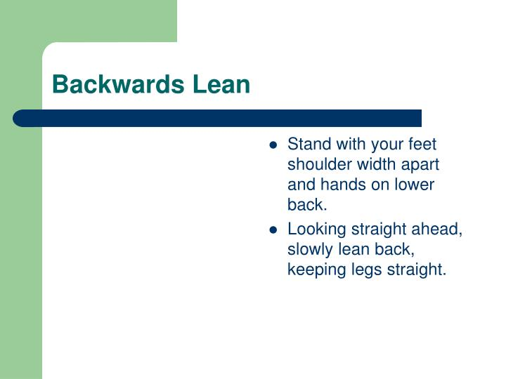 Backwards Lean