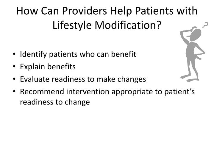 How Can Providers Help Patients with Lifestyle Modification?