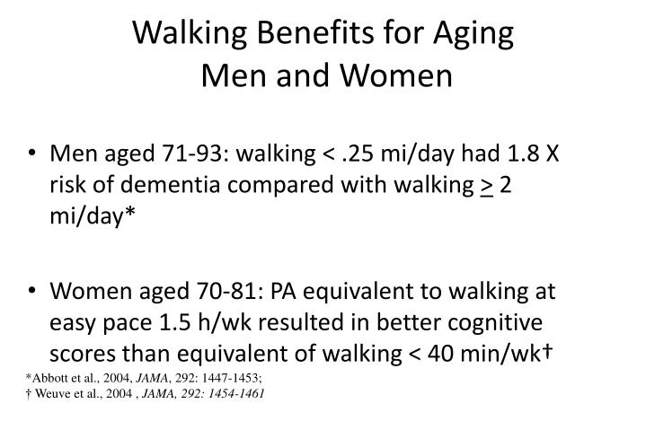 Walking Benefits for Aging