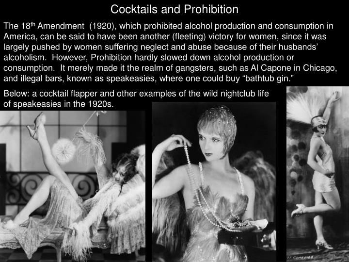 Cocktails and Prohibition