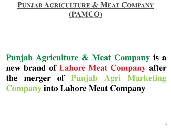 Punjab Agriculture & Meat Company (PAMCO)