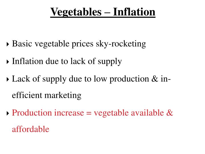 Vegetables – Inflation
