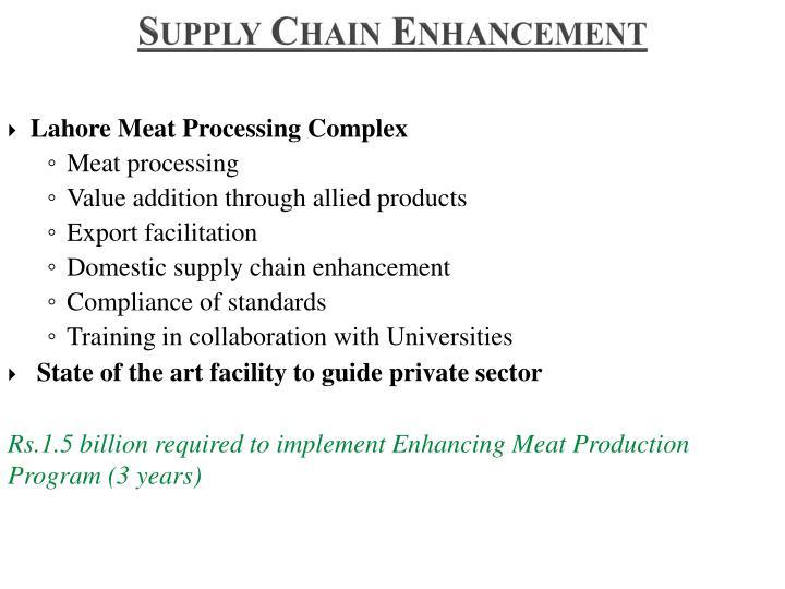 Supply Chain Enhancement