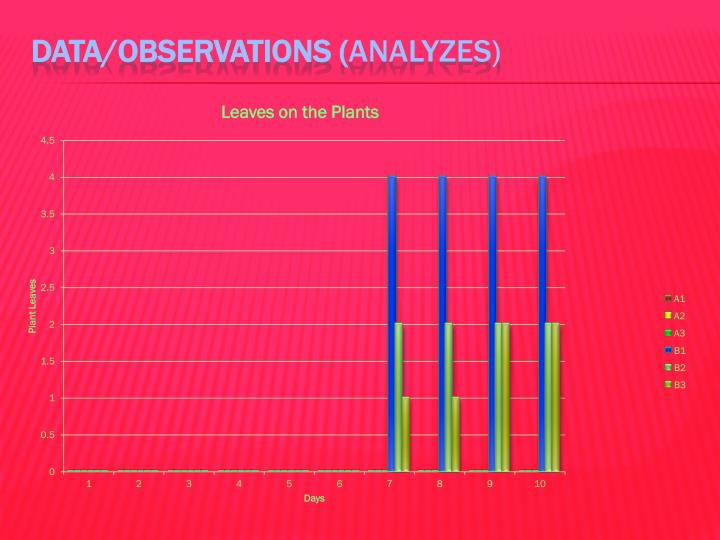 Data/Observations (