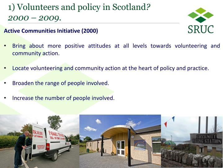 1 volunteers and policy in scotland 2000 2009