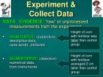 experiment collect data