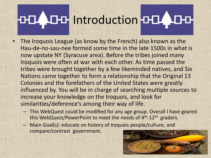 an introduction to the iroquois league The great law and the longhouse: a political history of the iroquois confederacy william n fenton no preview available - 2010.