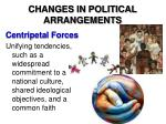 changes in political arrangements1