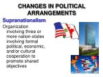 changes in political arrangements2