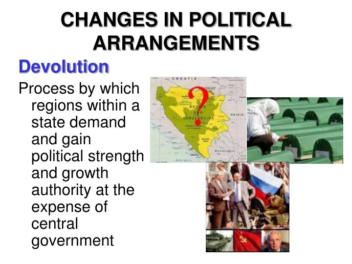 CHANGES IN POLITICAL ARRANGEMENTS