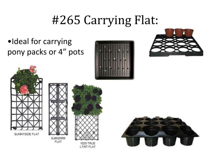 #265 Carrying Flat: