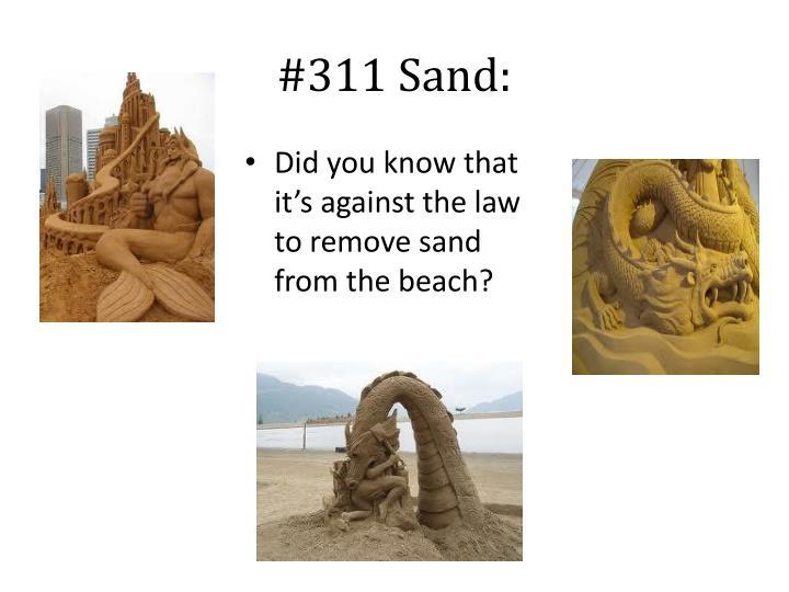 #311 Sand: