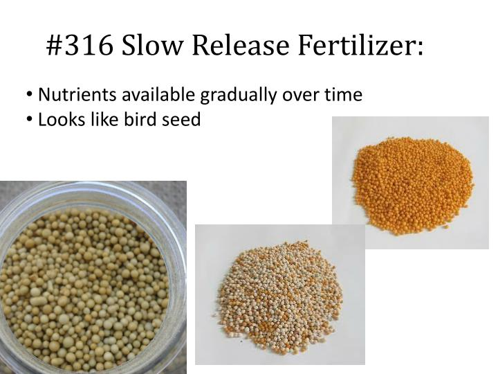 #316 Slow Release Fertilizer: