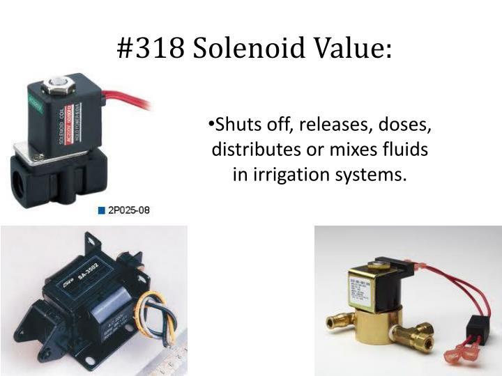 #318 Solenoid Value: