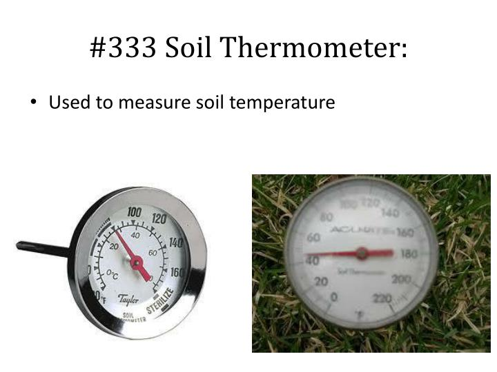 #333 Soil Thermometer: