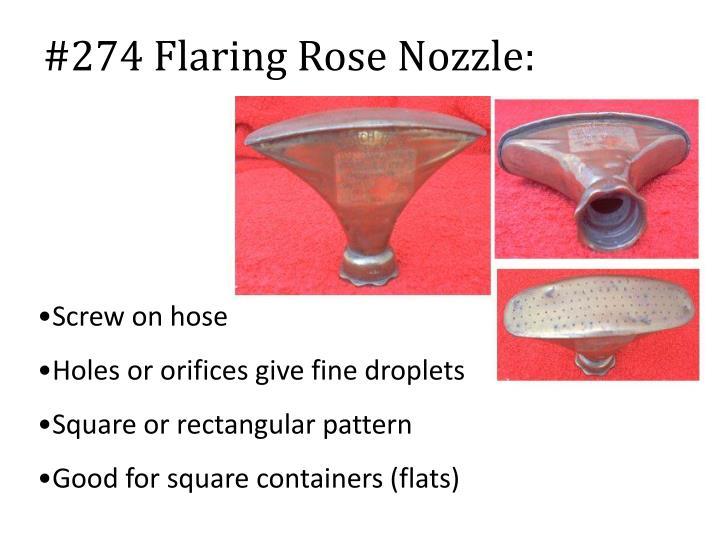 #274 Flaring Rose Nozzle: