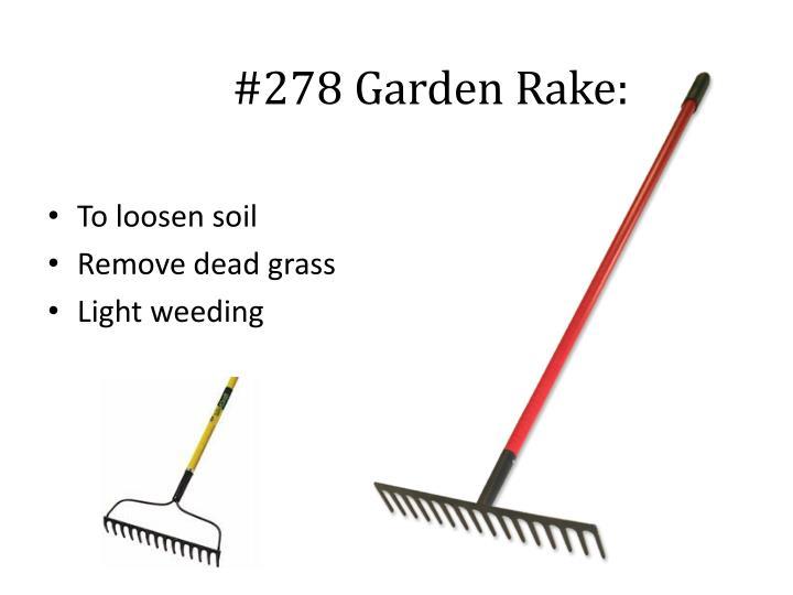 #278 Garden Rake: