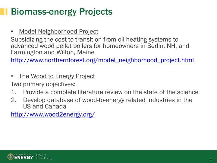 Biomass-energy Projects