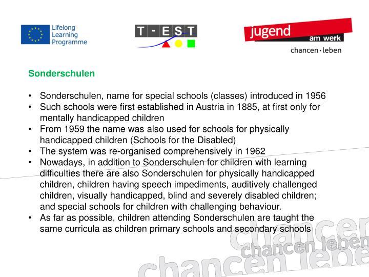 Sonderschulen