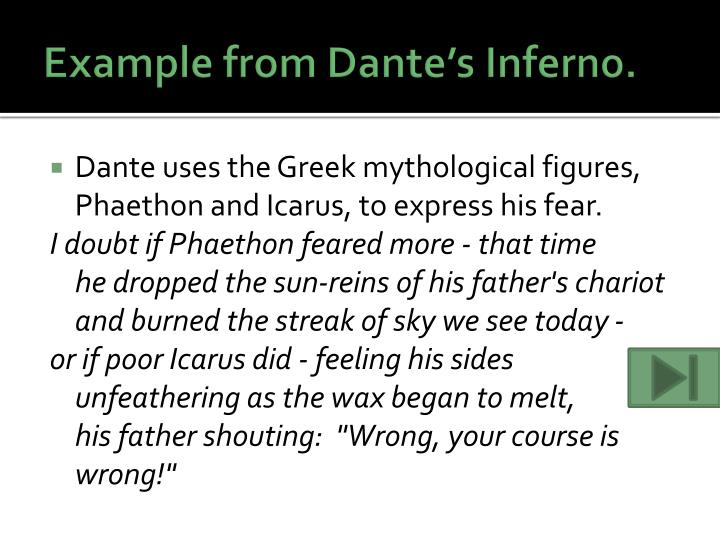 Example from dante s inferno
