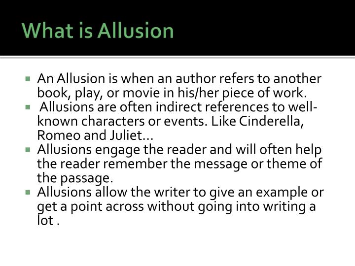 What is allusion