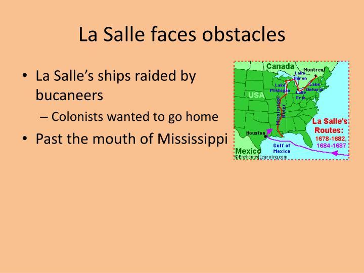 La Salle faces obstacles