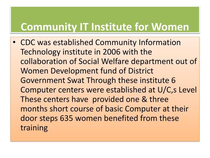 Community IT Institute for Women
