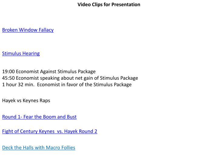 Video Clips for Presentation