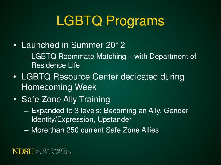 LGBTQ Programs
