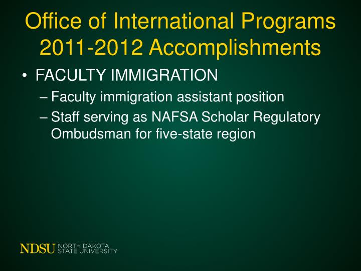 Office of International Programs