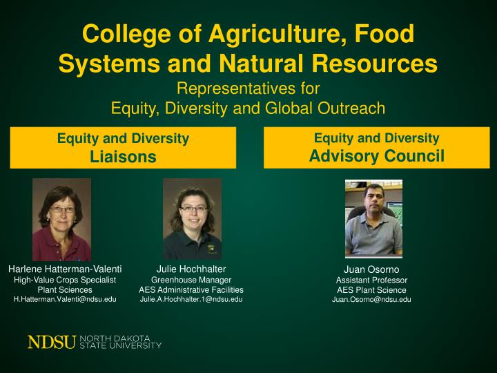 College of Agriculture, Food Systems and Natural Resources