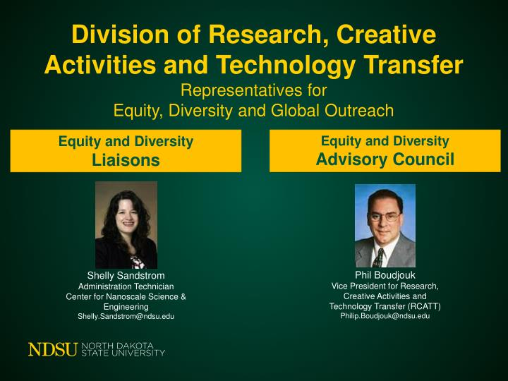 Division of Research, Creative Activities and Technology Transfer