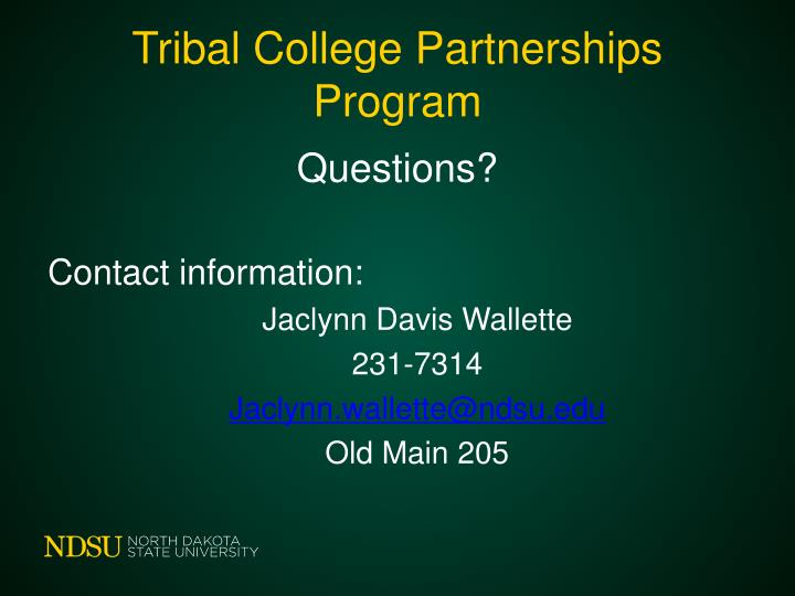 Tribal College Partnerships Program