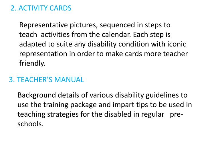 2. ACTIVITY CARDS
