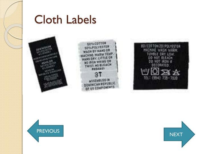 Cloth Labels