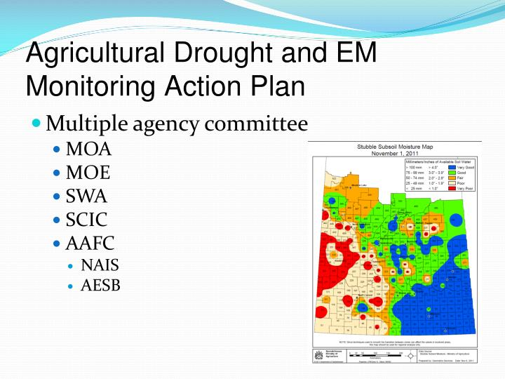 Agricultural Drought and EM Monitoring Action Plan
