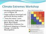 climate extremes workshop