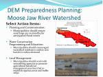 dem preparedness planning moose jaw river watershed