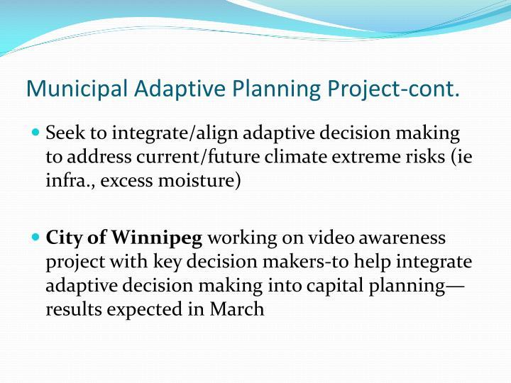 Municipal Adaptive Planning Project-